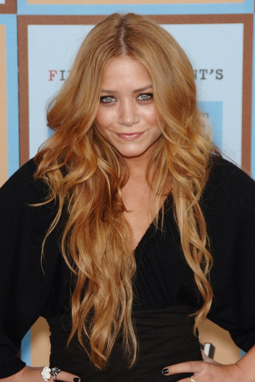 Mary Kate Olsen Wavy Honey Blonde Angled Loose Waves