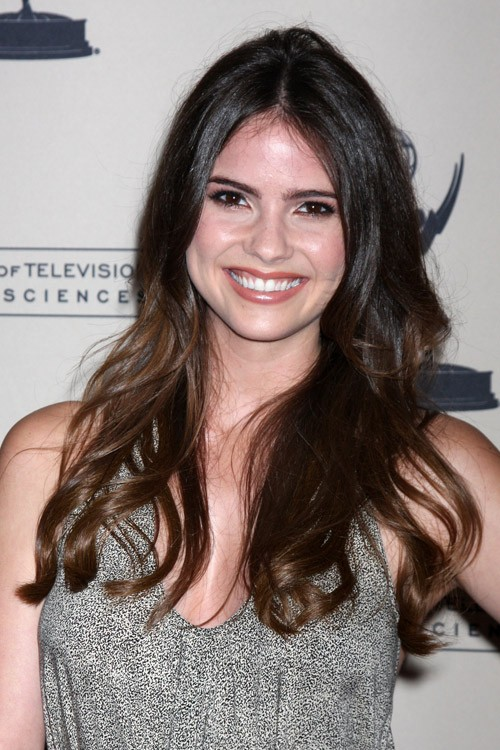 Shelley Hennig Wavy Dark Brown Ombr Hairstyle Steal Her