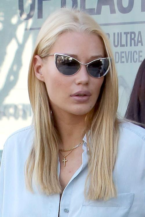 Iggy Azalea Straight Golden Blonde Hairstyle Steal Her Style