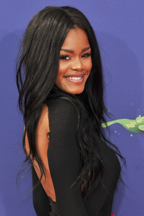 Teyana Taylor Wavy Black Choppy Layers Hairstyle Steal