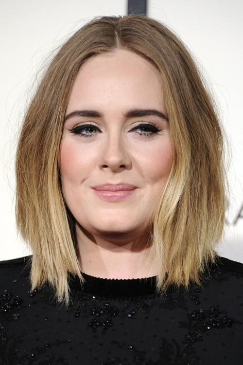 Adele Straight Medium Brown Angled Bob Bob Ombr