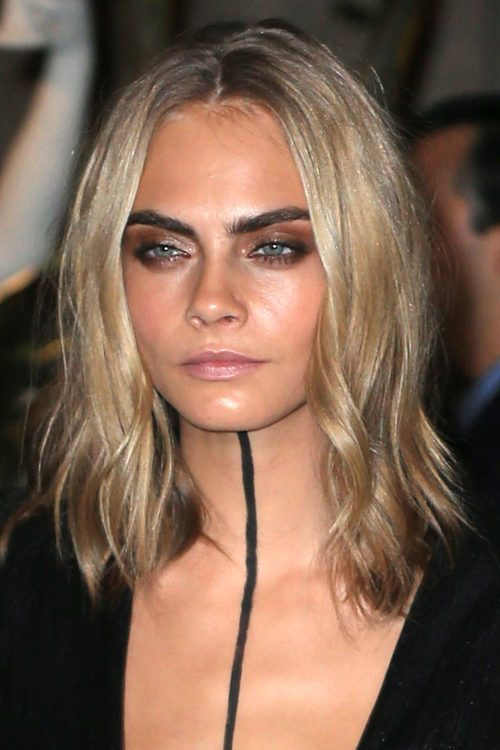 Cara Delevingne Wavy Ash Blonde Loose Waves Hairstyle