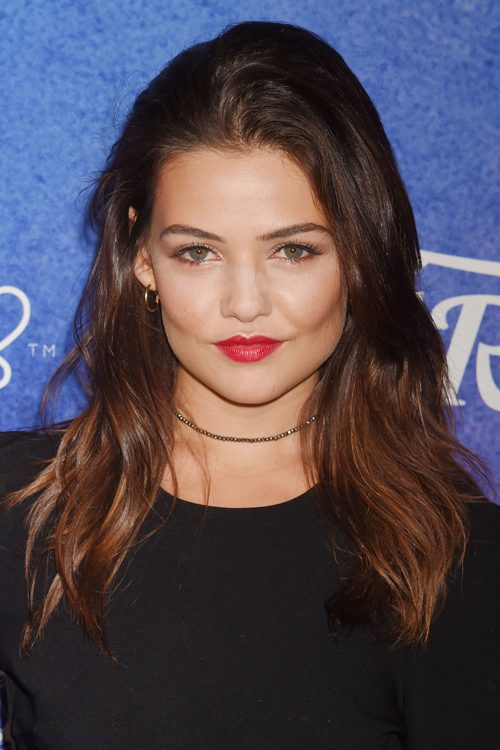 Danielle Campbell Wavy Medium Brown Long Layers Hairstyle