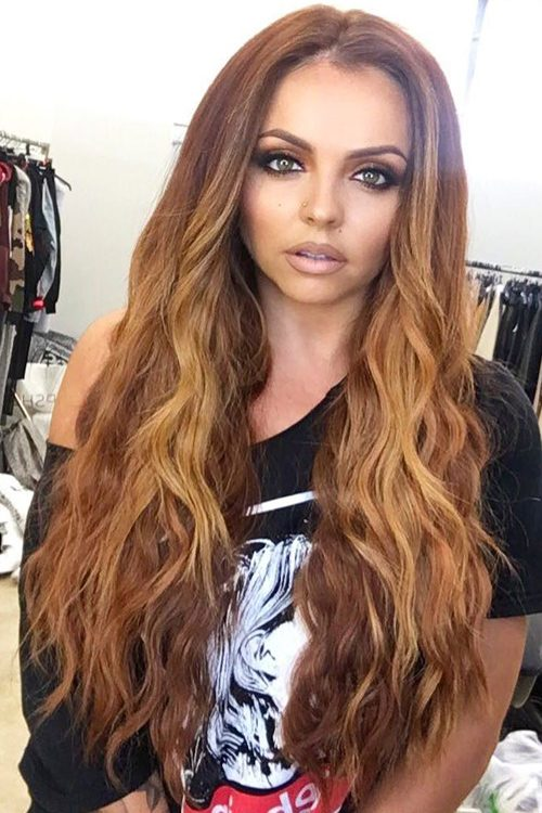 Jesy Nelson Wavy Medium Brown Ombr Hairstyle Steal Her