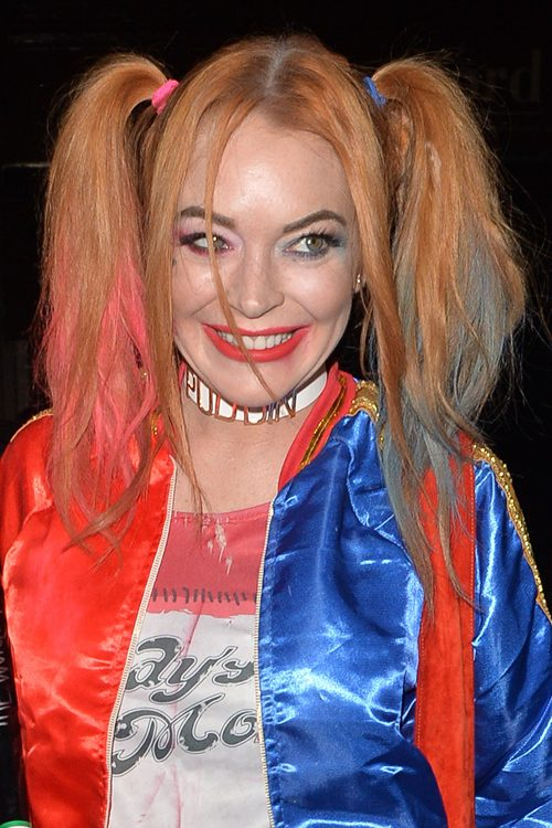 Lindsay Lohan Straight Light Brown Face Framing Pieces