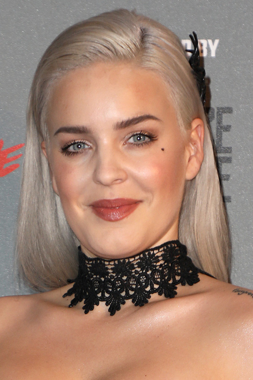 Anne Marie Straight Silver Uneven Color Hairstyle Steal