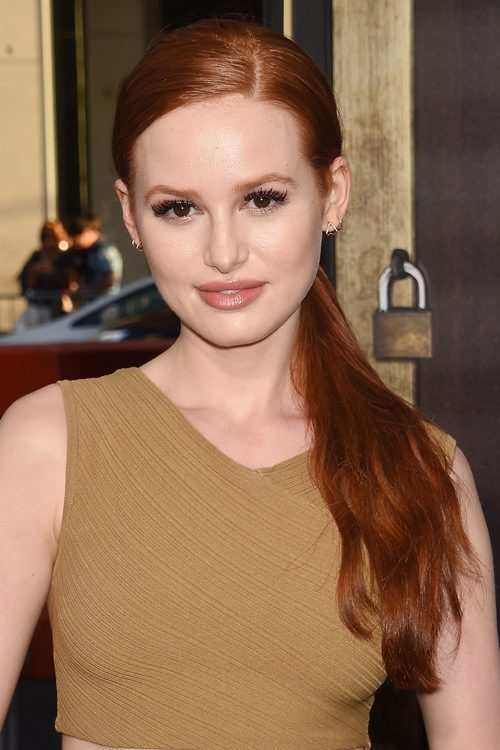 Madelaine Petsch Wavy Ginger Low Ponytail Ponytail