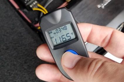 Laser measurement of the subwoofer amp's case...