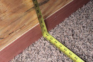 The floor width...