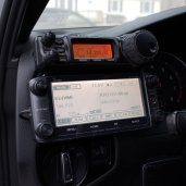 Both radios mounted to my ProClip mounts