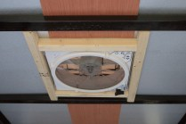 The frame of the roof fan...