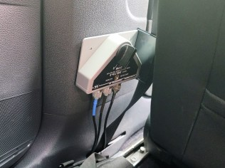 This switch selects between 70cm from the IC-5100A and the GMRS radio that's under the driver's seat...