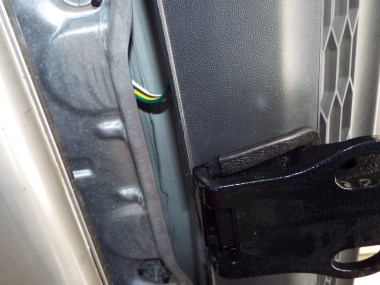 Here is where the trailer wiring exists the interior...