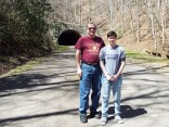 """Daughter and I at the end of """"The Road to Nowhere."""""""