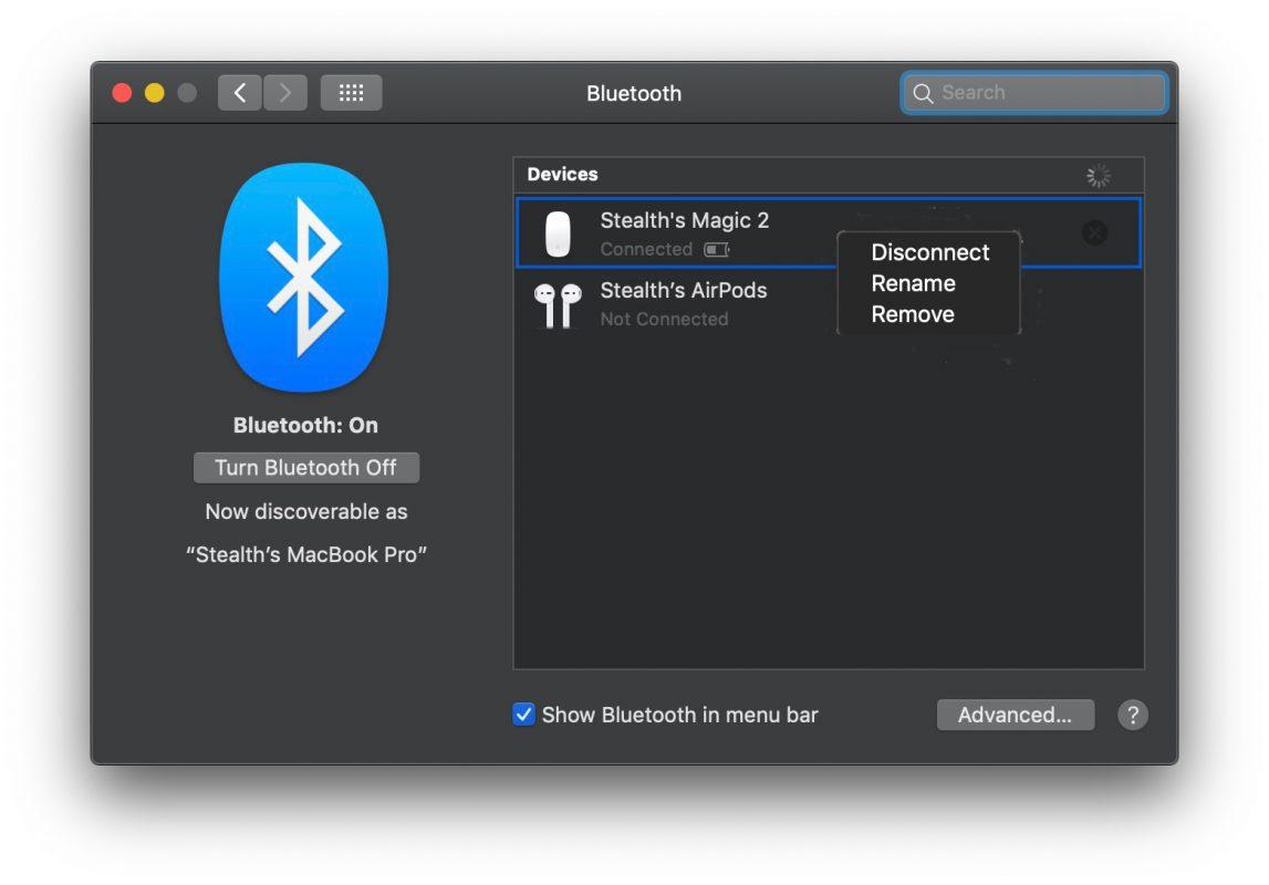 كيف يمكنني تغيير اسم جهاز بلوتوث أبل ماجيك ماوس في Windows