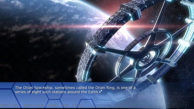 Orion: A Sci-Fi Visual Novel Screenshot 1