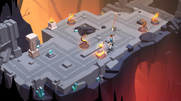 Screenshot from Lara Croft Go (iOS)