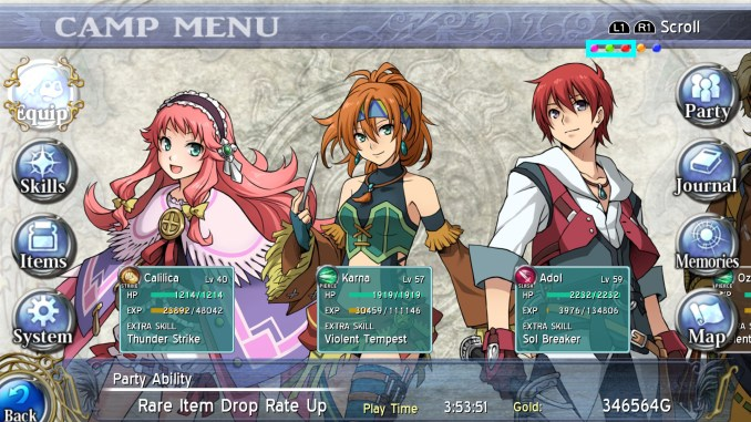 Ys: Memories of Celceta Screenshot 1