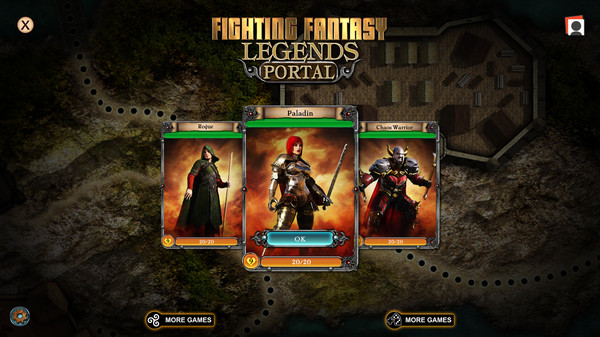 Fighting Fantasy Legends Portal Screenshot
