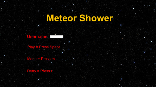 Meteor Shower Screenshot