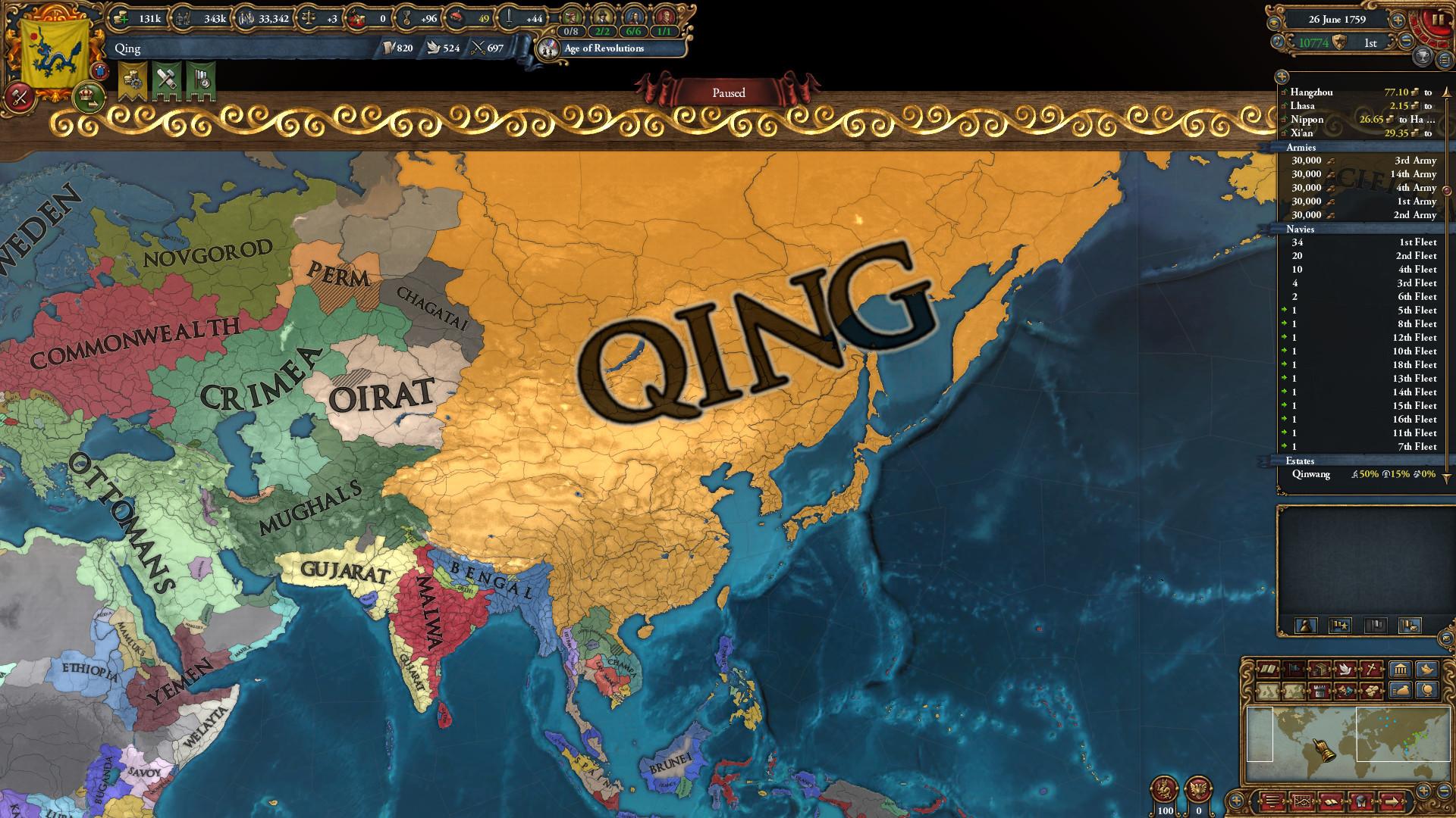 Sep 24 2019 Post Manchu Update Europa Universalis Iv
