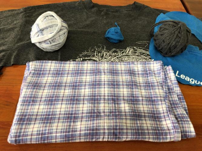 Making T Shirt Yarn Steam Fab Lab