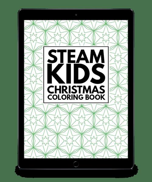 Steam Kids Christmas Coloring Book Steam Kids