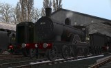 No. 30120 waits on shed at Bridgnorth