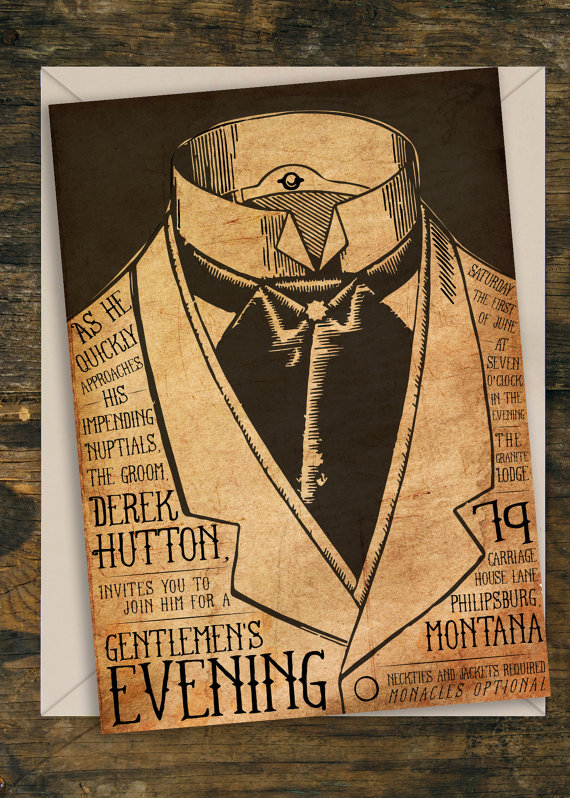 Steampunk Wedding Invitations To Inspire You How Make The Invitation
