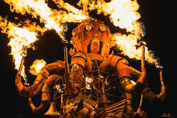 Burning Man 2013 - El Pulpo Mecanico - Cat Laine