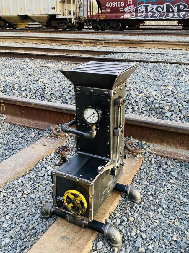 STEAMPUNK ROCKET STOVE grill bbq fire pit cooking heater camping