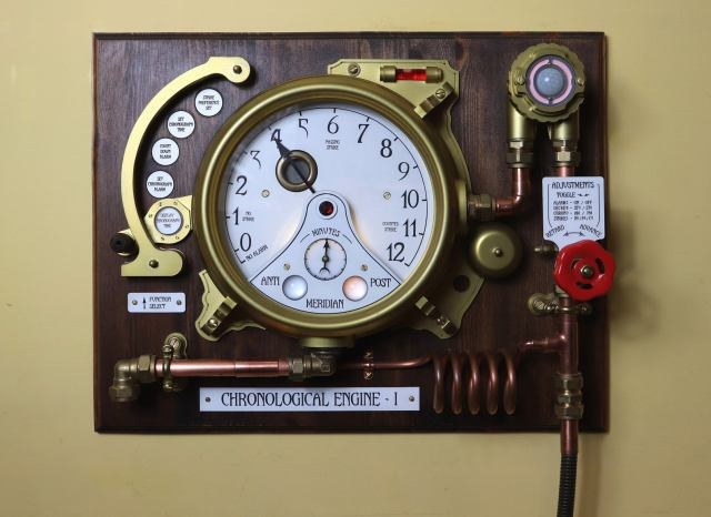 The Chronological Engine Working Steampunk Clock 1