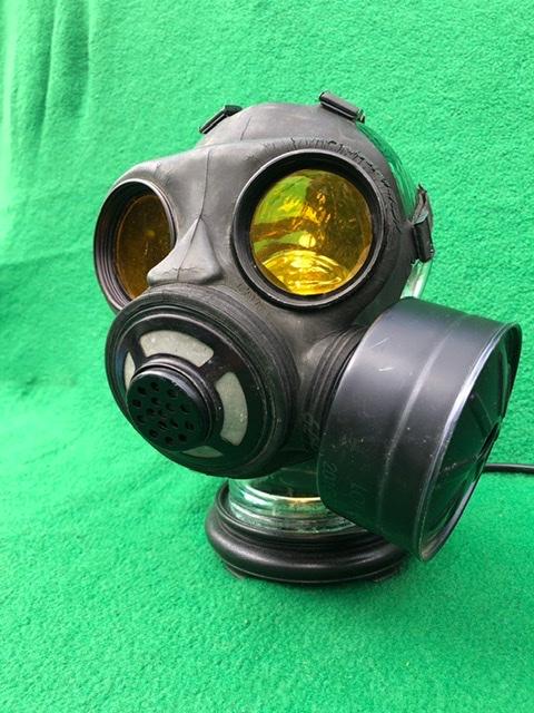 Vintage Steampunk Gas Mask Lamp 3