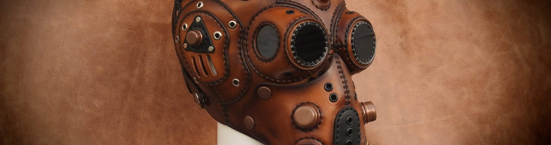 Steampunk Vegetable Leather (Post-apocalyptic) Full Face gas Mask.