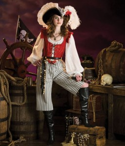 Lady's Steampunk Pirate cosplay Costume. 2