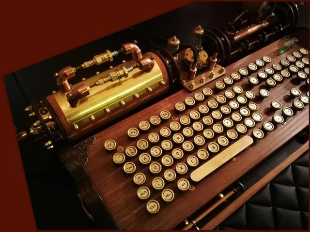 Steampunk  PC Keyboard and Mouse.