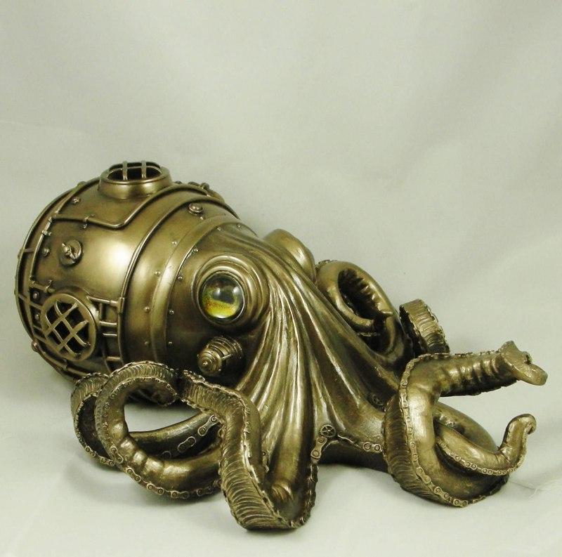 "A Steampunk Octopus Called ""Clockwork Tendrils""."