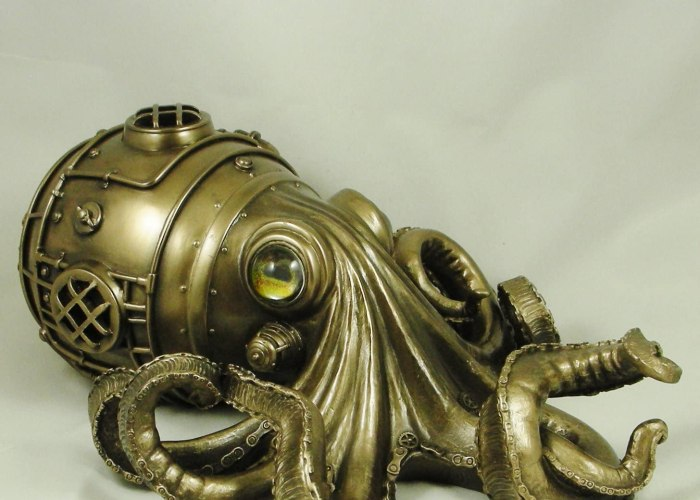 "A Steampunk Octopus Called ""Clockwork Tendrils""."
