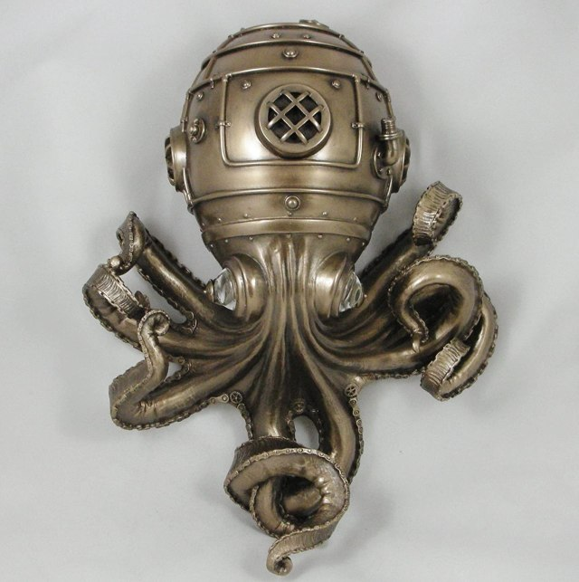 "A Steampunk Octopus Called ""Clockwork Tendrils"". 2"