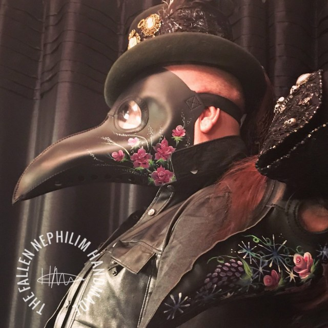 Hand painted steampunk plague doctor's mask.​