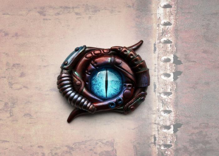 Steampunk Tentacle Fantasy Broach.