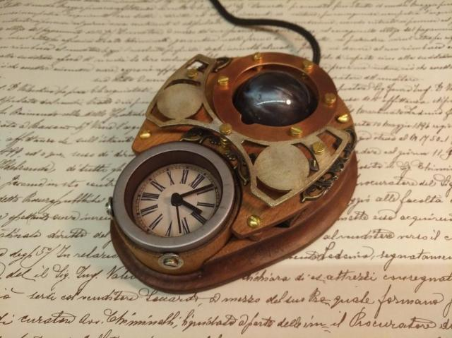 Steampunk trackball mouse 2