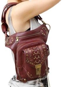 A unisex multipurpose steampunk mail style bag/purse. 3