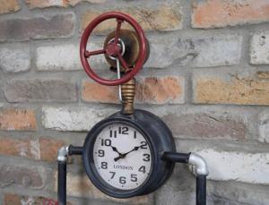 Triple steampunk industrial pipe clock.