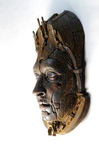 ALBERICH II. Rusted robot portrait wall art. Steampunk sculpture handmade by Tomàs Barceló. 5