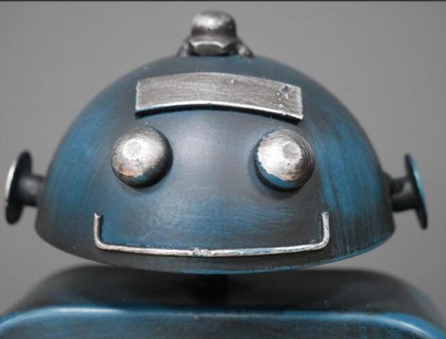 Dieselpunk Style Robot Clock. 2