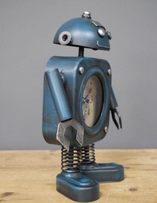 Dieselpunk Style Robot Clock. 3