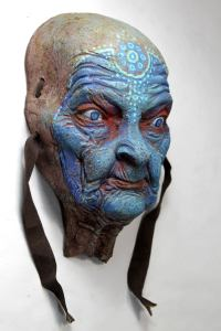 SHINN ANASTASIA. Blue face wall sculpture by Tomas Barcelo. 2