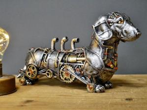 Steampunk Dachshund Sausage Dog Sculpture1