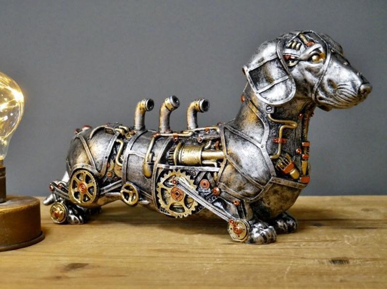 Steampunk Dachshund Sausage Dog Sculpture1